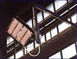 Instalace infrazářiče SMB v průmyslové hale