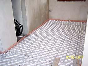 RD - podlahové topení