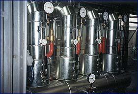 Výměníková stanice pára-voda, výkon 6MW - elektrárna Třebovice provedeno pro Dalkia Česká republika