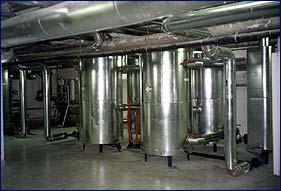 Výroba TÚV elektrárna Třebovice provedeno pro Dalkia Česká republika. Ohřev 1300l vody o 45oC za 15 min